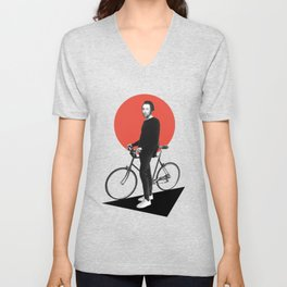 The wheel is come full circle. I am here Unisex V-Neck
