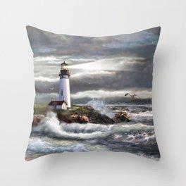 Beam of Hope Throw Pillow