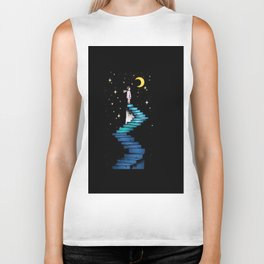 Stairs to the Moon Biker Tank