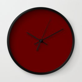 Blood Red - solid color Wall Clock