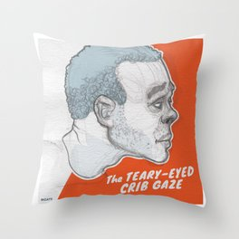 The Teary-Eyed Crib Gaze Throw Pillow