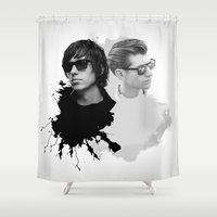 arctic monkeys Shower Curtains featuring the Arctic Strokes by Daniac Design