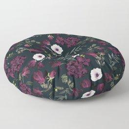 Romantic Pattern - Dark Floor Pillow