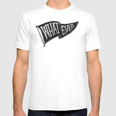 Whatever Flag Mens Fitted Tee SMALL White