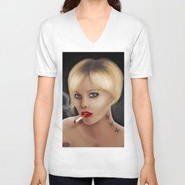 Blonde Girl Unisex V-Neck