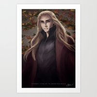 thranduil Art Prints featuring Thranduil by Hanna Nordin