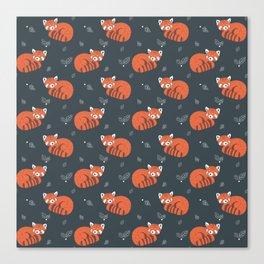 Red Panda Pattern Canvas Print