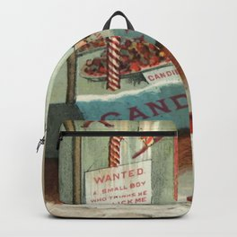 Wanted - A Boy To Lick Christmas Candy Cane Backpack