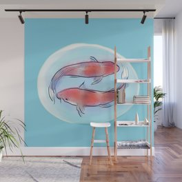 koi bubble #2 Wall Mural