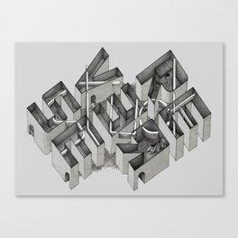 Stuck in Reverse Canvas Print