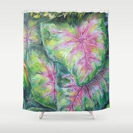 Tropical (Caladium Detail) Shower Curtain