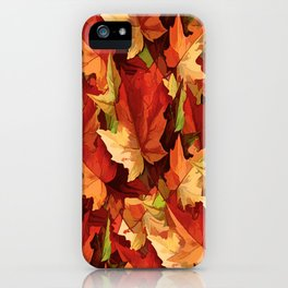 Autumn Leaves Abstract - Painterly iPhone Case