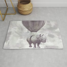 Rhino on Clouds Rug