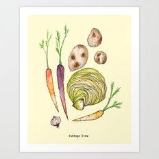 Cabbage Stew Art Print