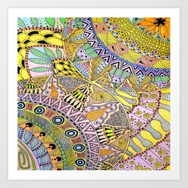 Color Color Everywhere Art Print