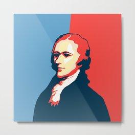 Alexander Hamilton Portrait Metal Print