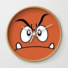 Minimalist Goomba Wall Clock