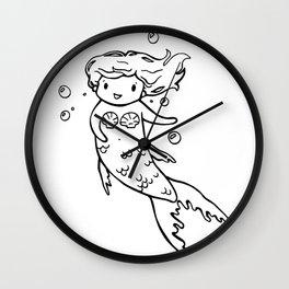 Tiny Mermaid Wall Clock