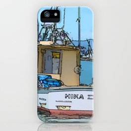 Boat at Whitianga, NZ iPhone Case