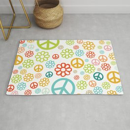 Retro Hippy Pattern Rug