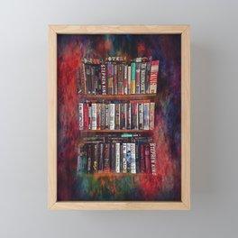 Stephen King Books on Shelves Framed Mini Art Print