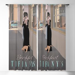 Audrey#Hepburn Breakfast At Tiffan-y's Movie Poster, High Quality Print, Vintage Art Photography, Home Décor Wall Art Fashion Blackout Curtain