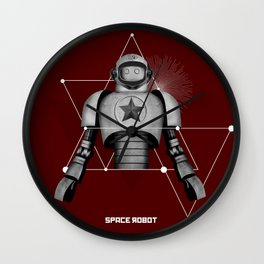 Space robot 4 Wall Clock