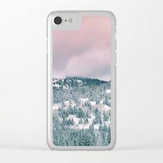 Winter love #art #buyart #society6 Clear iPhone Case