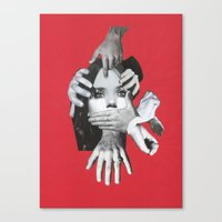 my mad fat diary Canvas Prints featuring Mad by fabiotir