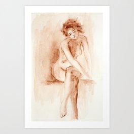 Portrait of woman Art Print