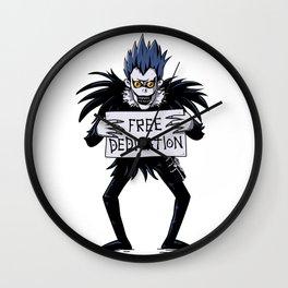 Free dedication Wall Clock