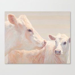 Angel and her Calf Canvas Print