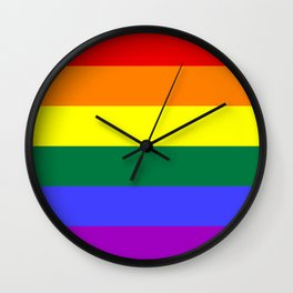 Gay Pride Flag Wall Clock