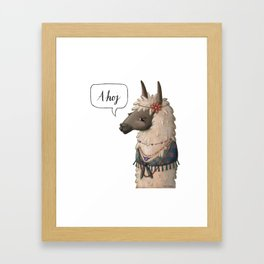 Bohemian Llama (II) Framed Art Print
