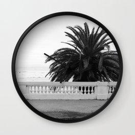 Colonia oceanside sidewalk Wall Clock
