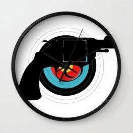 Hand Gun Target Wall Clock