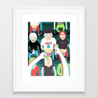movies Framed Art Prints featuring 3D Movies by Patrick O'Leary