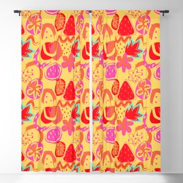 Brushstrokes Abstract - gold brights Blackout Curtain