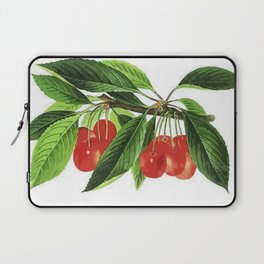 Red Cherries Vector on White Background Laptop Sleeve