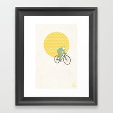 Stache with Sunrise Framed Art Print