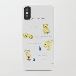 the lion  and the mouse. iPhone Case