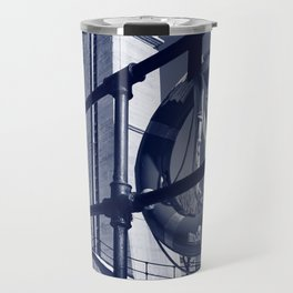 The Peterborough Lift Lock, Cyanotype Travel Mug