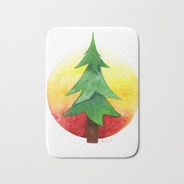 The Pine Guard Watercolor Logo Bath Mat