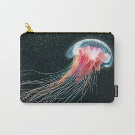 Jellyfish deep sea ocean creature illustration home decor drawing Carry-All Pouch