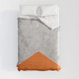 Geometric Concrete Arrow Design - Orange #118 Duvet Cover