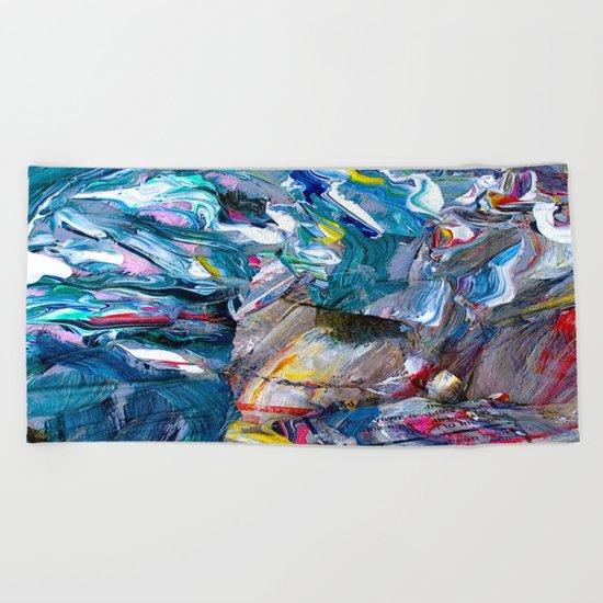 Marble Beach Side Beach Towel