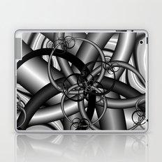 Black and White Fractal 9 Laptop & iPad Skin