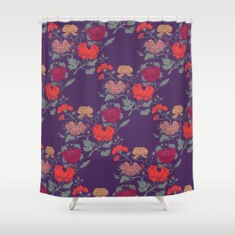 Recolour Peonies Shower Curtain
