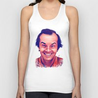 jack nicholson Tank Tops featuring Young Jack Nicholson and the evil smile - digital painting by Thubakabra