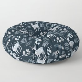 Northern forest Floor Pillow